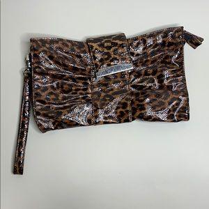 Cheetah clutch purse